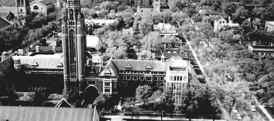 black and white photo of Chicago Theological Seminary, undated photo